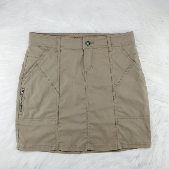 Prana Dresses & Skirts - Prana   khaki above knee Monarch skirt